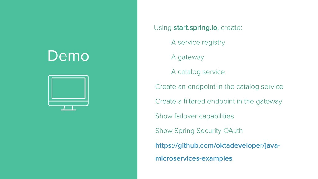 Demo Using start.spring.io, create: A service r...