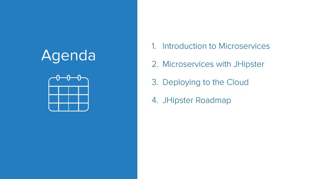 Agenda 1. Introduction to Microservices 2. Micr...