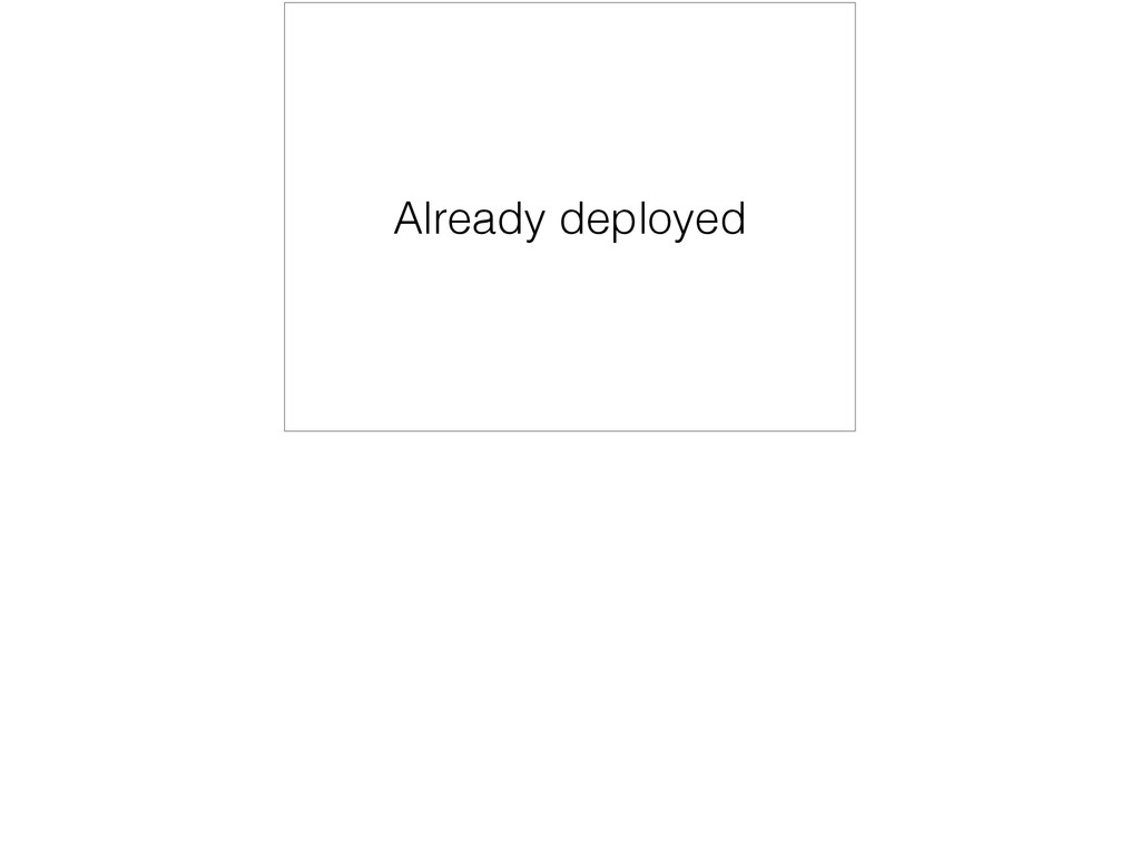 Already deployed