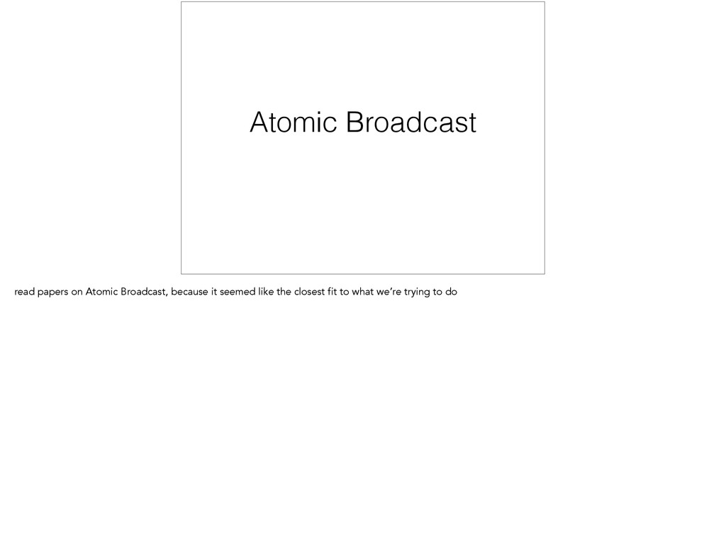 Atomic Broadcast read papers on Atomic Broadcas...