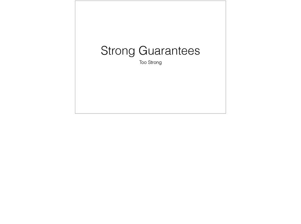 Strong Guarantees Too Strong