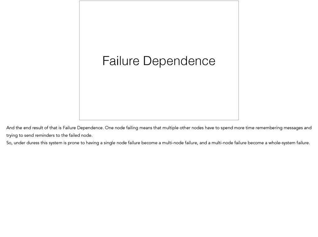 Failure Dependence And the end result of that i...
