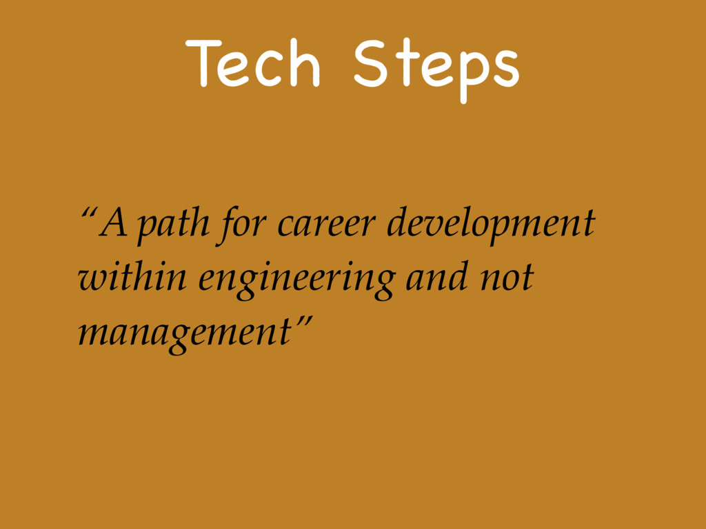 "Tech Steps ""A path for career development withi..."