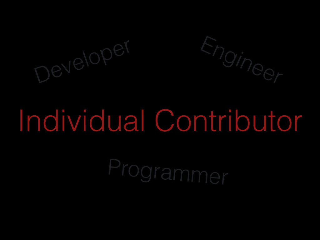 Developer Engineer Programmer Individual Contri...