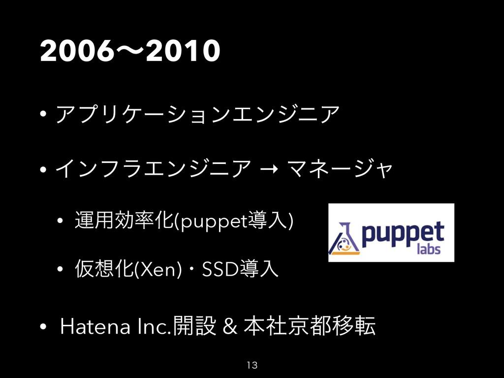 2006ʙ2010 • ΞϓϦέʔγϣϯΤϯδχΞ • ΠϯϑϥΤϯδχΞ → Ϛωʔδϟ •...