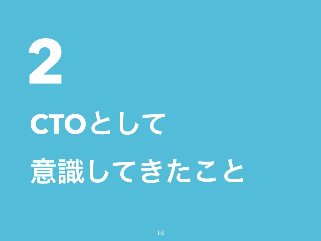 2 CTOͱͯ͠ ҙ͖ࣝͯͨ͜͠ͱ