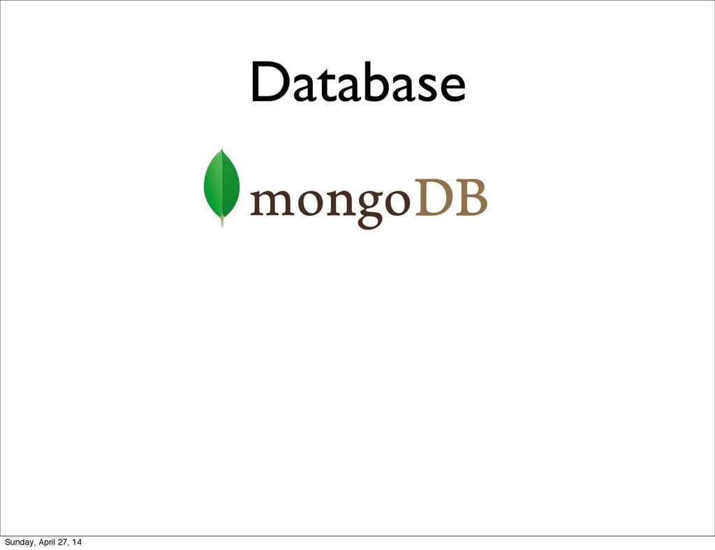 Database Sunday, April 27, 14