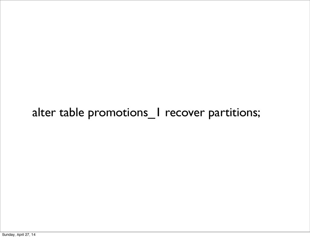 alter table promotions_1 recover partitions; Su...