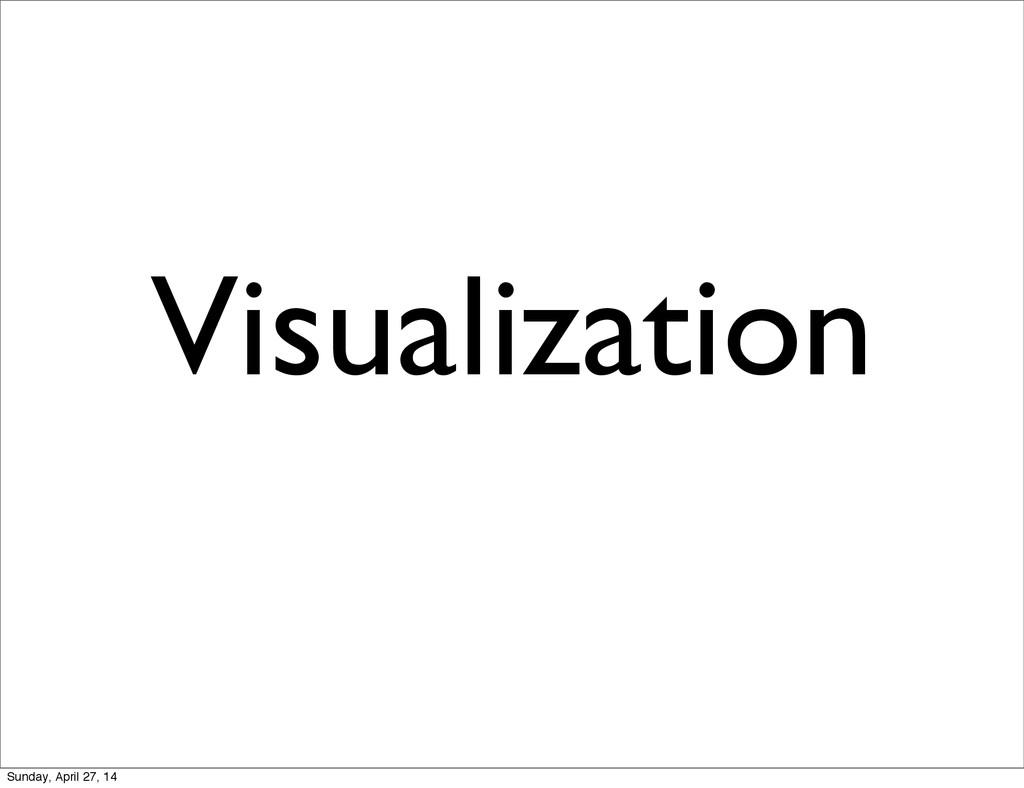 Visualization Sunday, April 27, 14