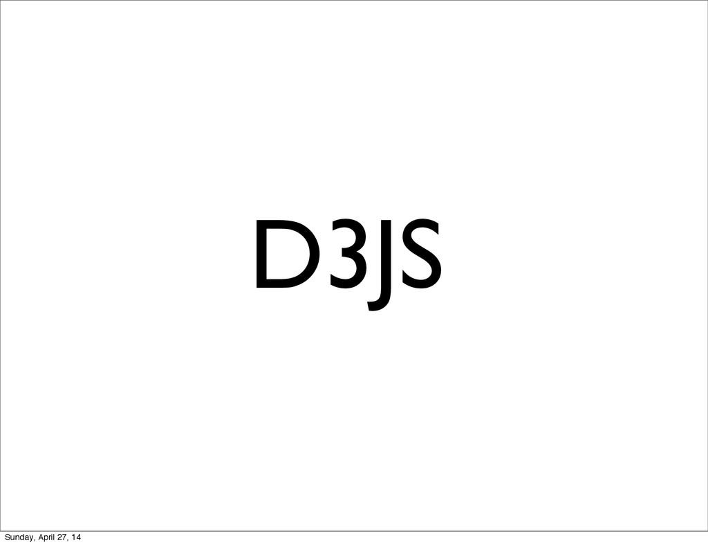 D3JS Sunday, April 27, 14