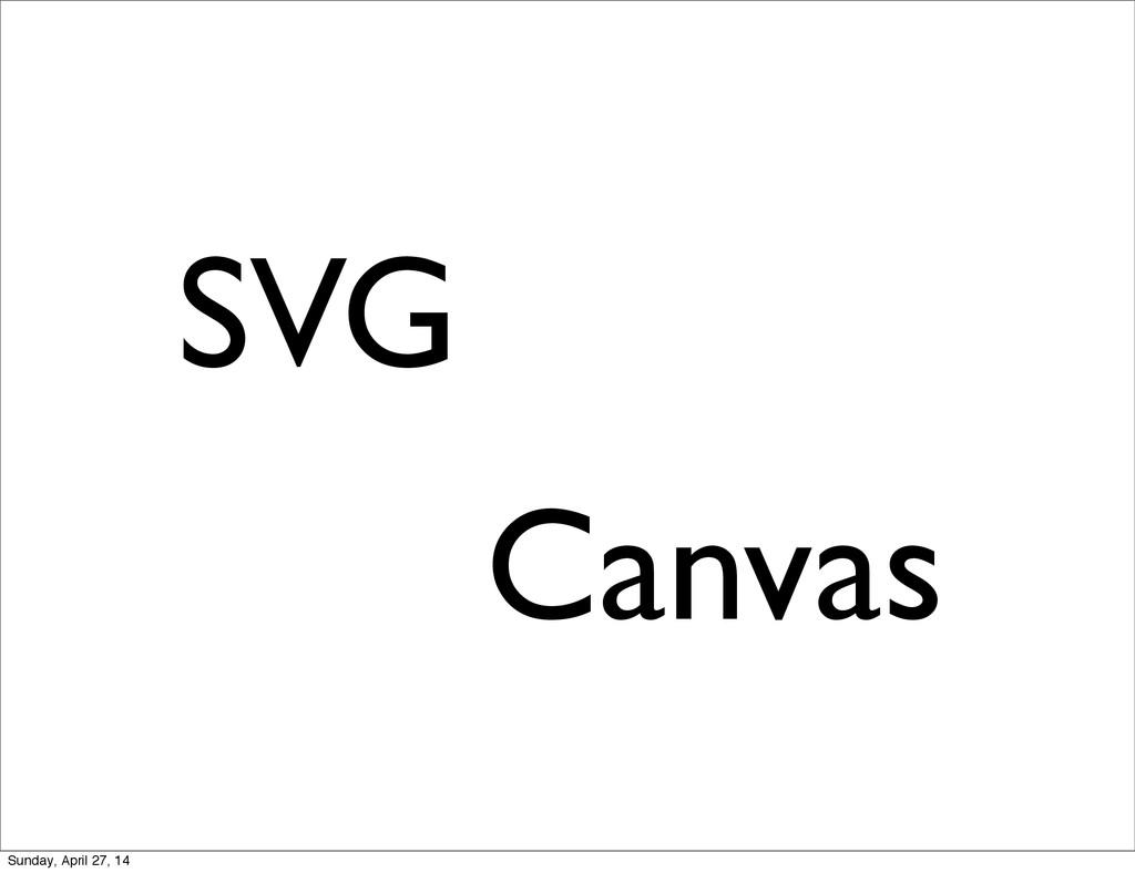 SVG Canvas Sunday, April 27, 14