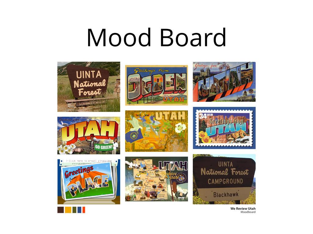 Mood Board We Review Utah Moodboard