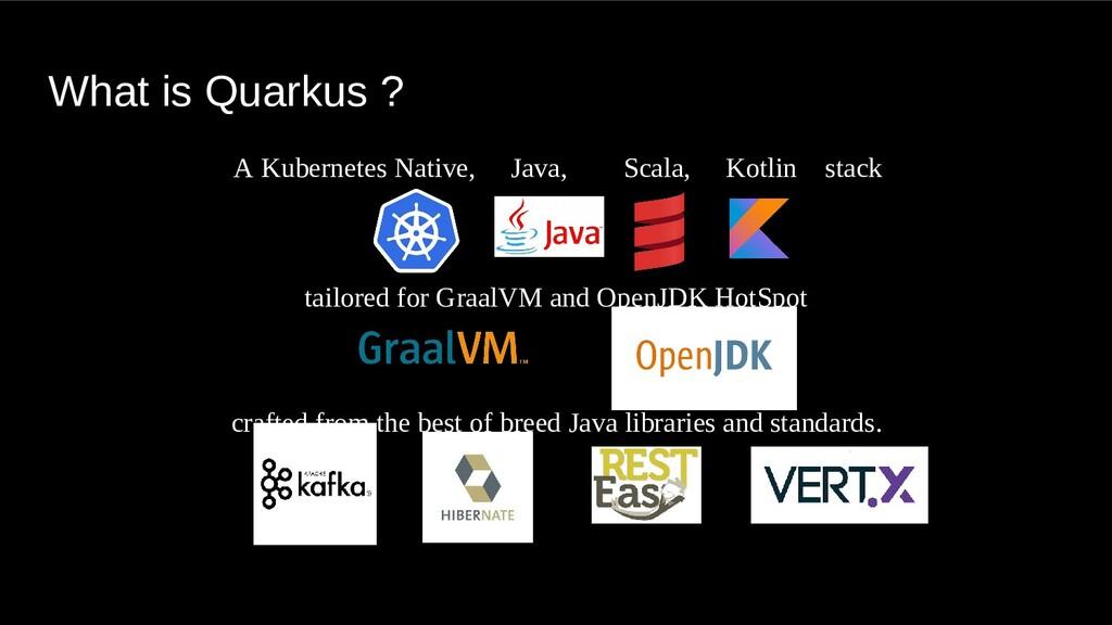 What is Quarkus ? A Kubernetes Native, Java, Sc...