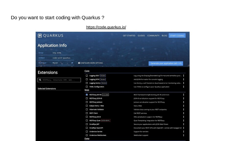 Do you want to start coding with Quarkus ? http...