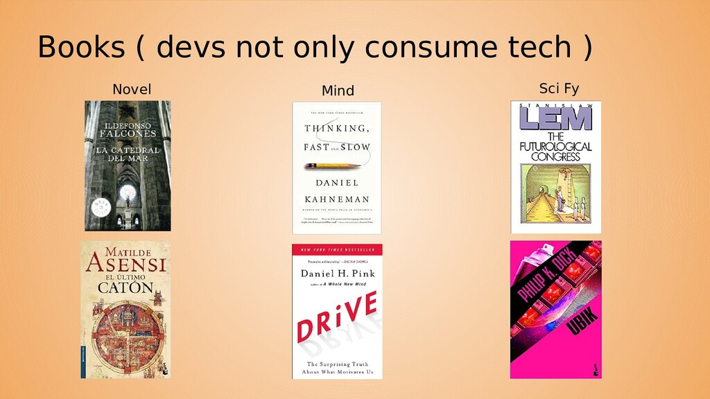 Books ( devs not only consume tech ) Sci Fy Min...