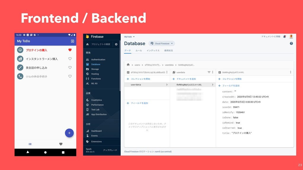 Frontend / Backend