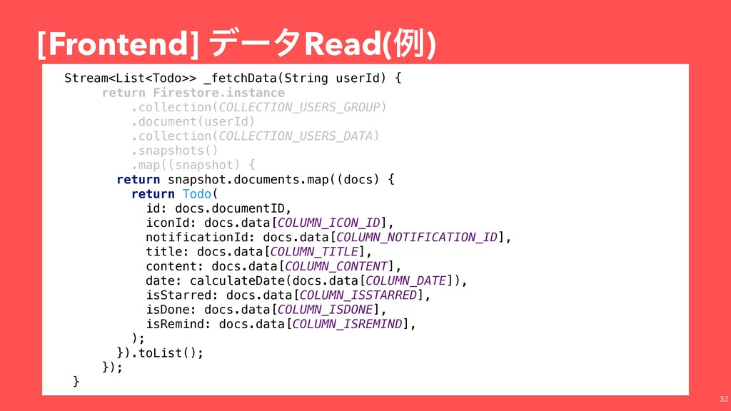 [Frontend] σʔλRead(ྫ)  Stream<List<Todo>> _fe...