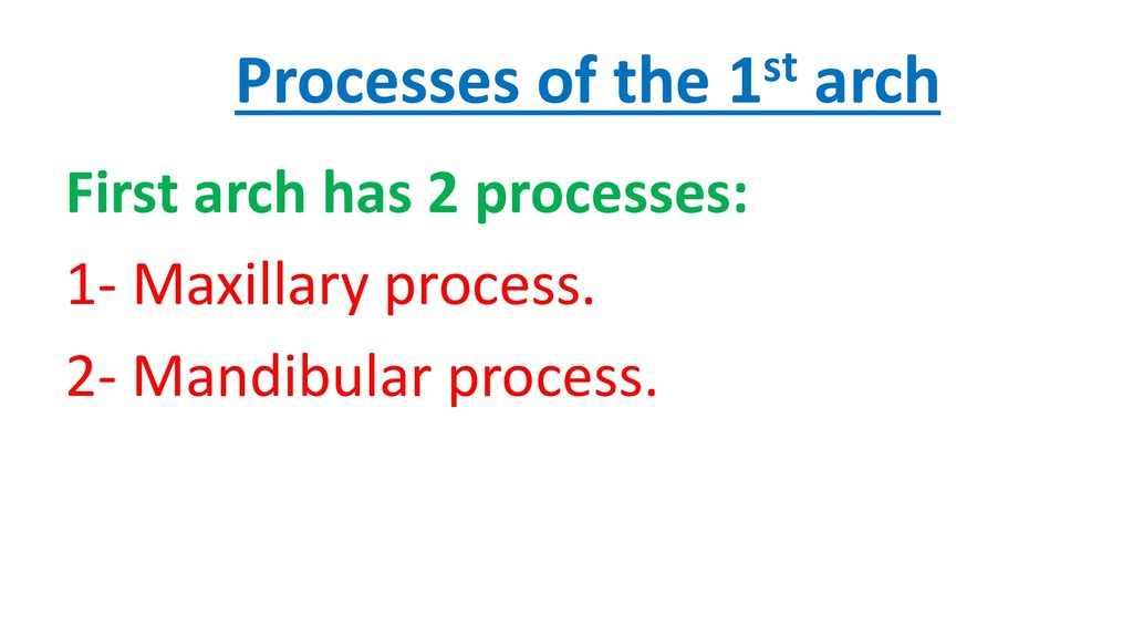 Processes of the 1st arch First arch has 2 proc...