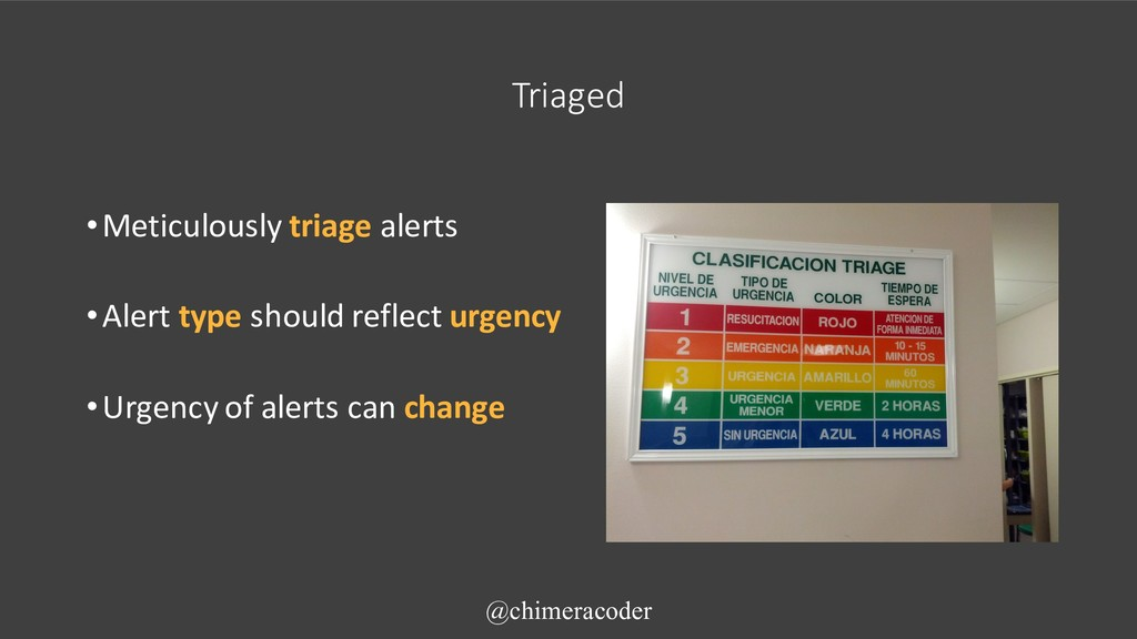 Triaged •Meticulously triage alerts •Alert type...