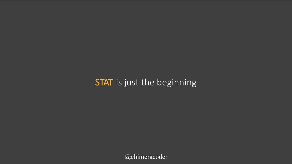 STAT is just the beginning @chimeracoder