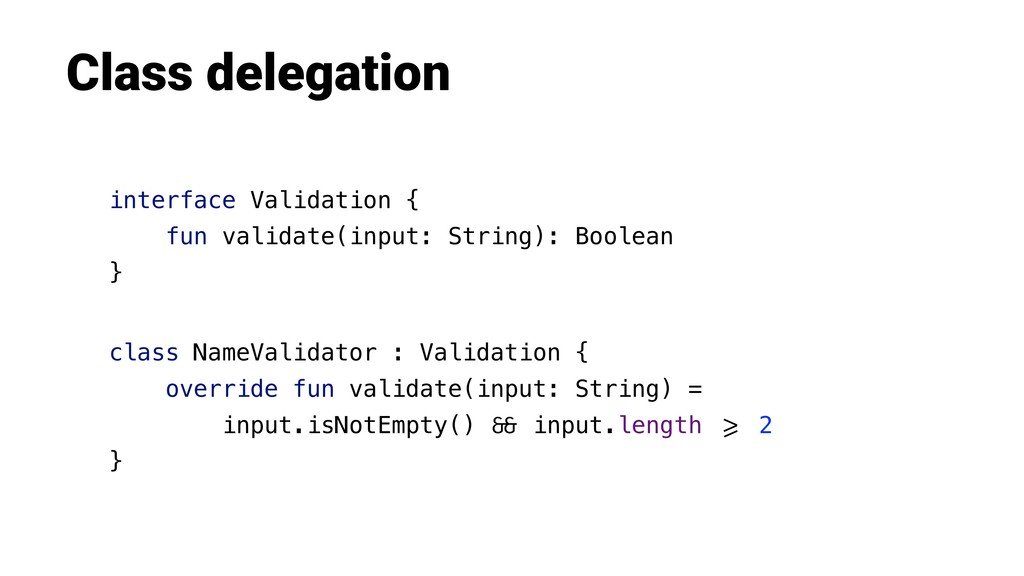 interface Validation { fun validate(input: Stri...