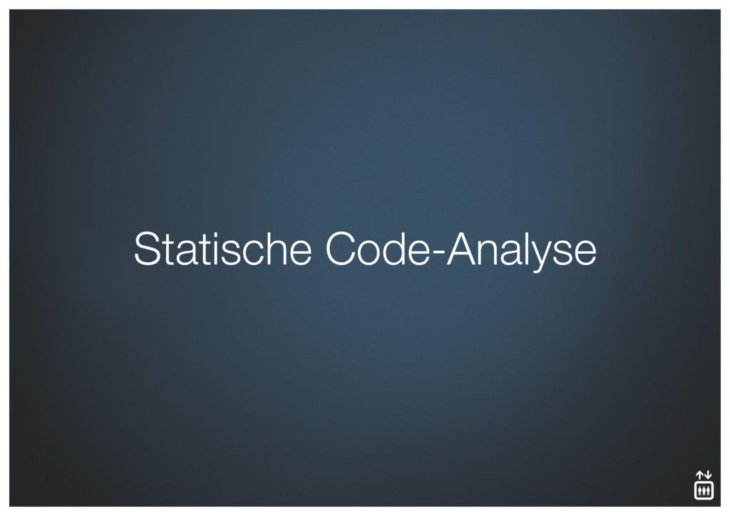 Statische Code-Analyse