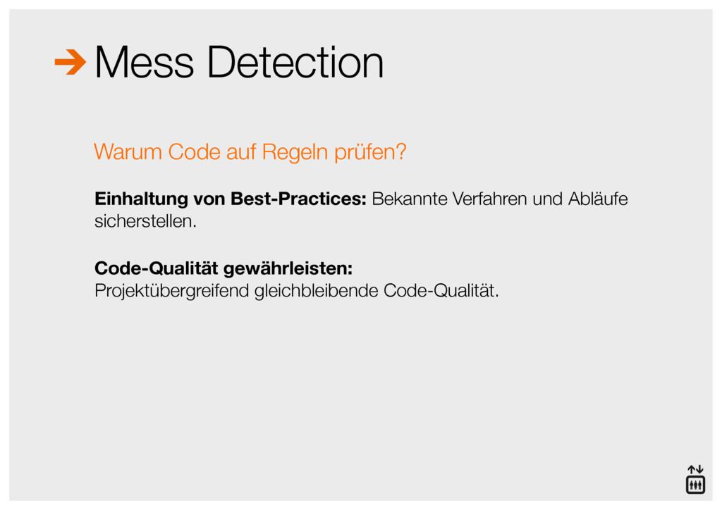 Mess Detection Einhaltung von Best-Practices: B...