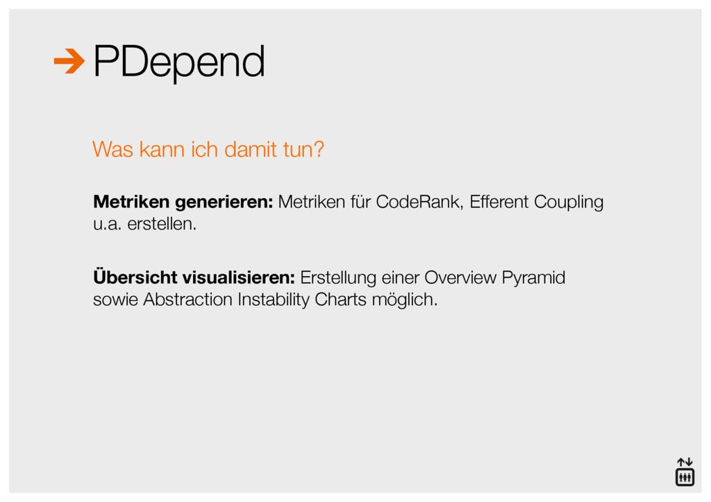 PDepend Metriken generieren: Metriken für CodeR...