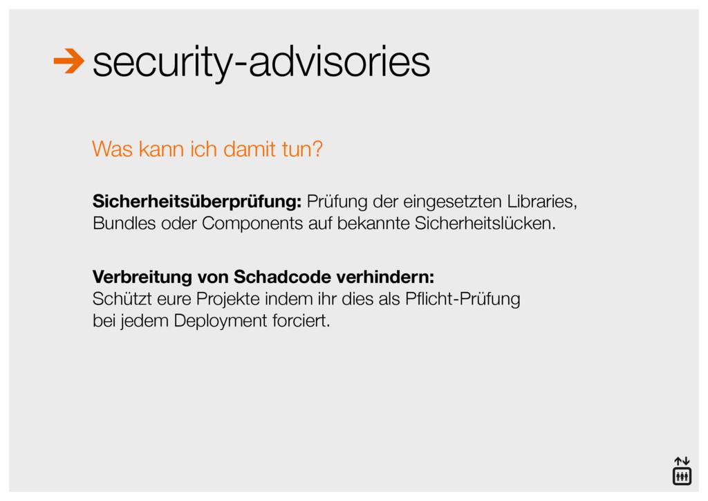 security-advisories Sicherheitsüberprüfung: Prü...