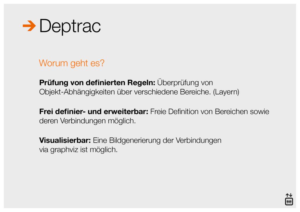 Deptrac Prüfung von definierten Regeln: Überprüf...