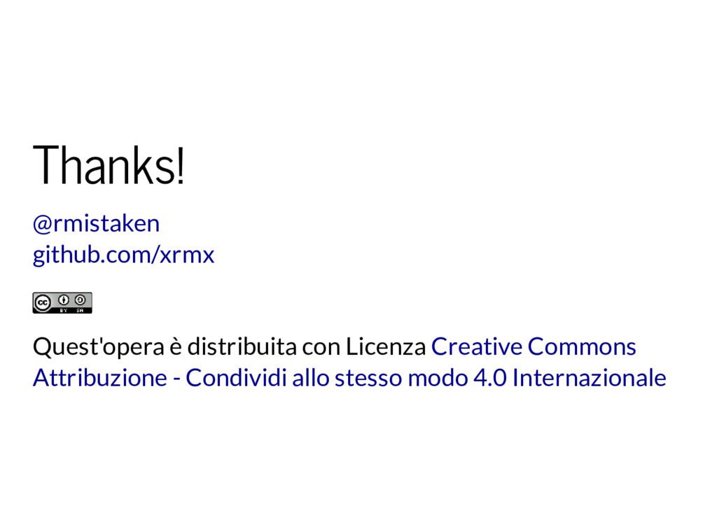 Thanks! @rmistaken github.com/xrmx Quest'opera ...