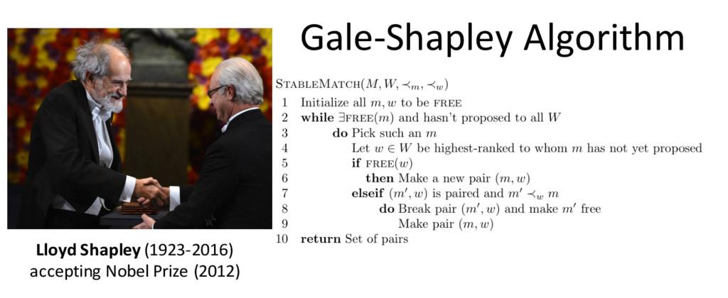 Gale-Shapley Algorithm Lloyd Shapley (1923-2016...