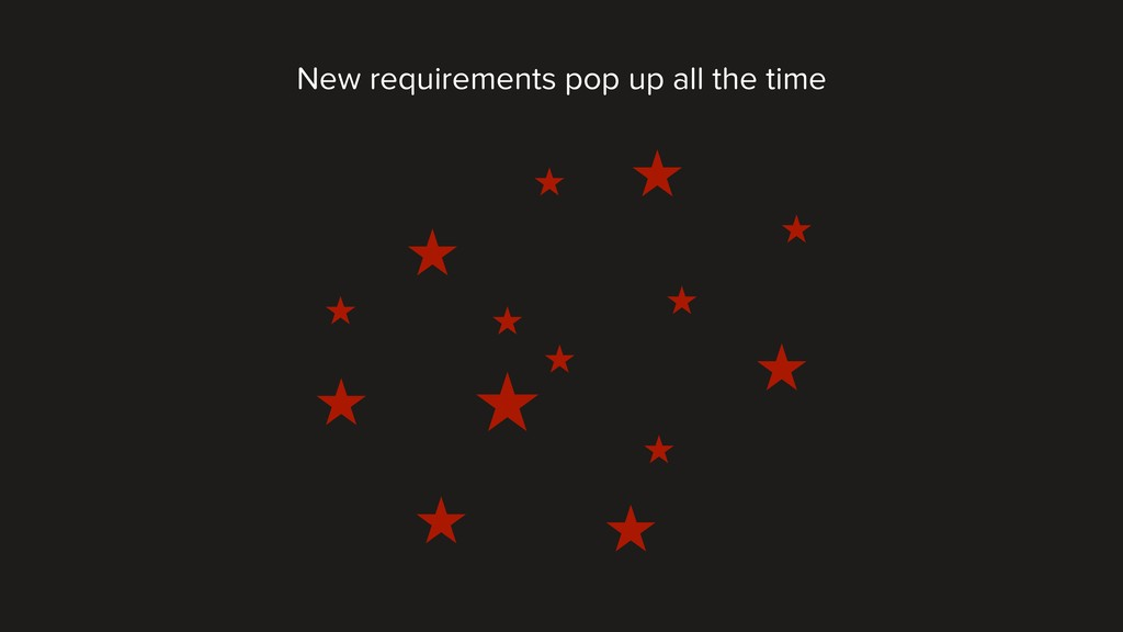 New requirements pop up all the time