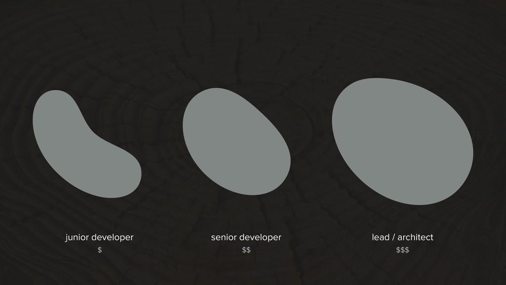 senior developer lead / architect junior develo...