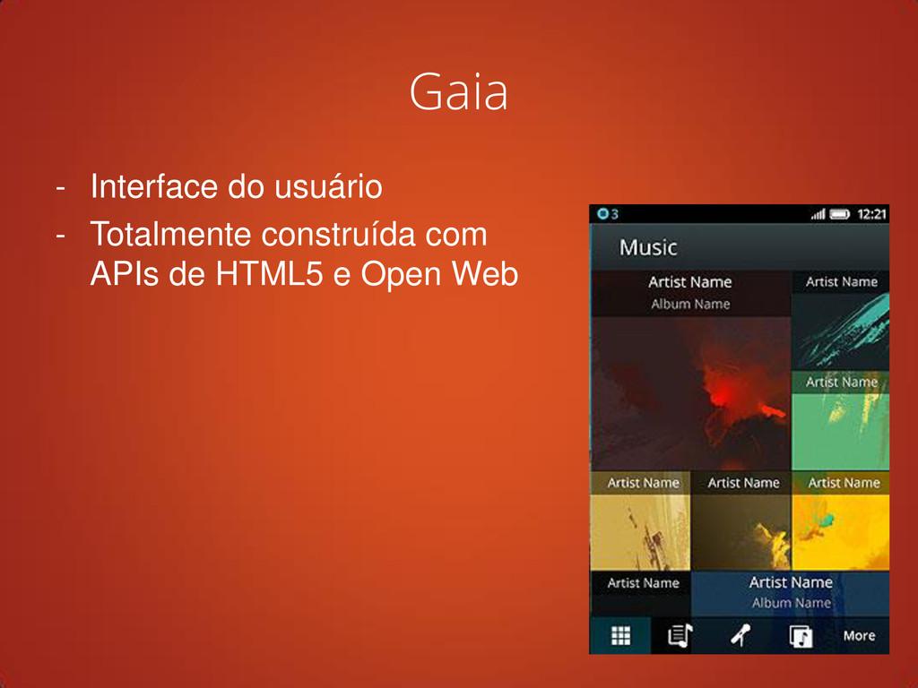 Gaia - Interface do usuário - Totalmente constr...