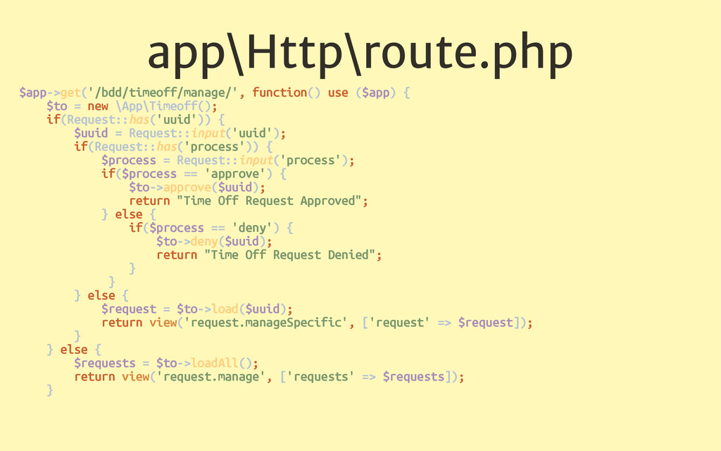 app\Http\route.php $app->get('/bdd/timeoff/mana...