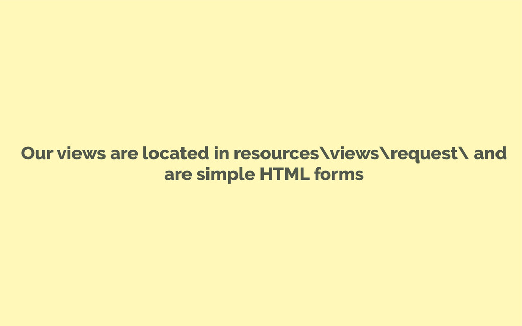 Our views are located in resources\views\reques...