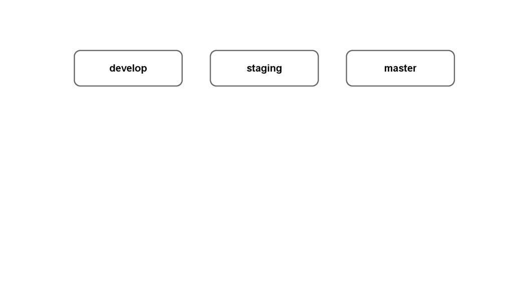 develop staging master