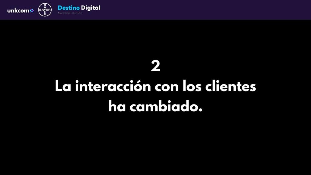 2 La interacción con los clientes ha cambiado.