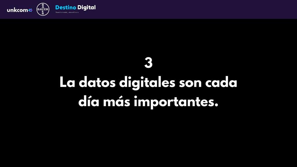 3 La datos digitales son cada día más important...