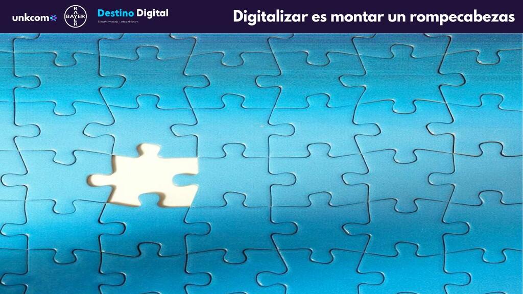 Digitalizar es montar un rompecabezas