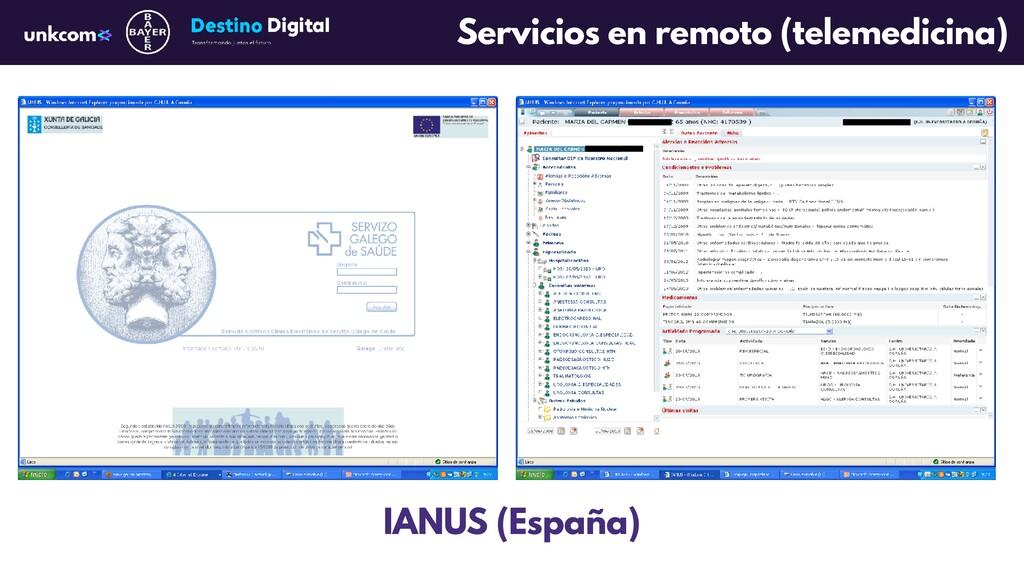 Servicios en remoto (telemedicina) IANUS (Españ...