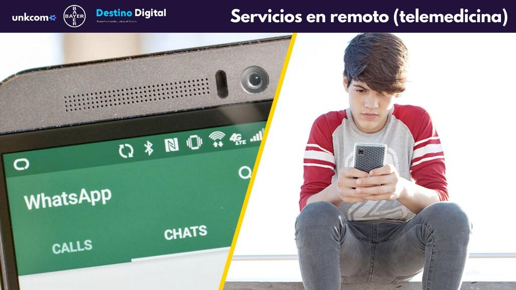 Servicios en remoto (telemedicina)