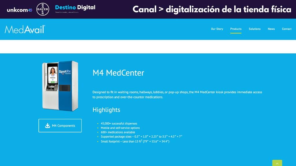 Canal > digitalización de la tienda física