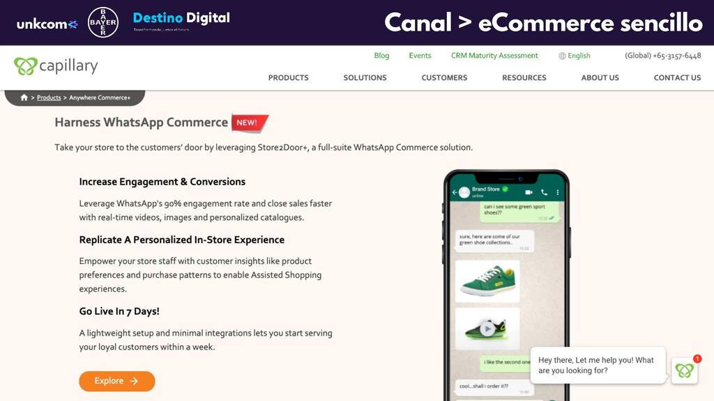 Canal > eCommerce sencillo
