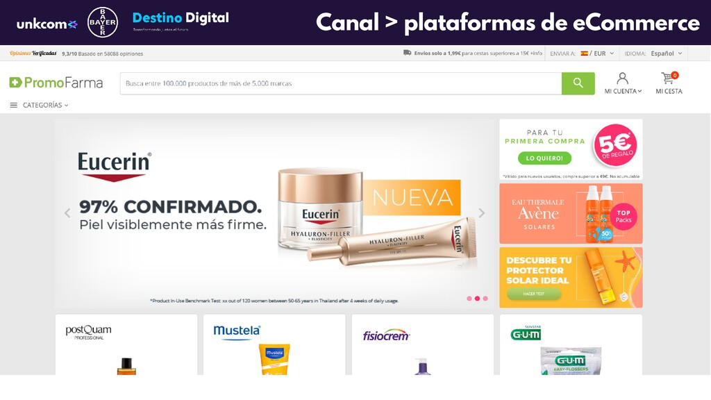 Canal > plataformas de eCommerce