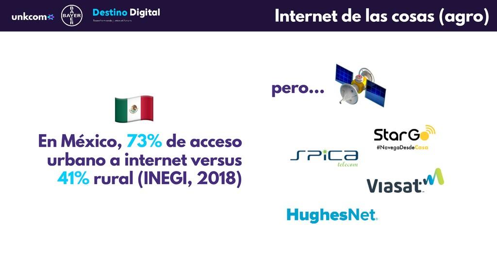 Internet de las cosas (agro) En México, 73% de ...