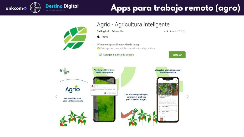 Apps para trabajo remoto (agro)