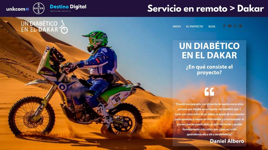 Servicio en remoto > Dakar
