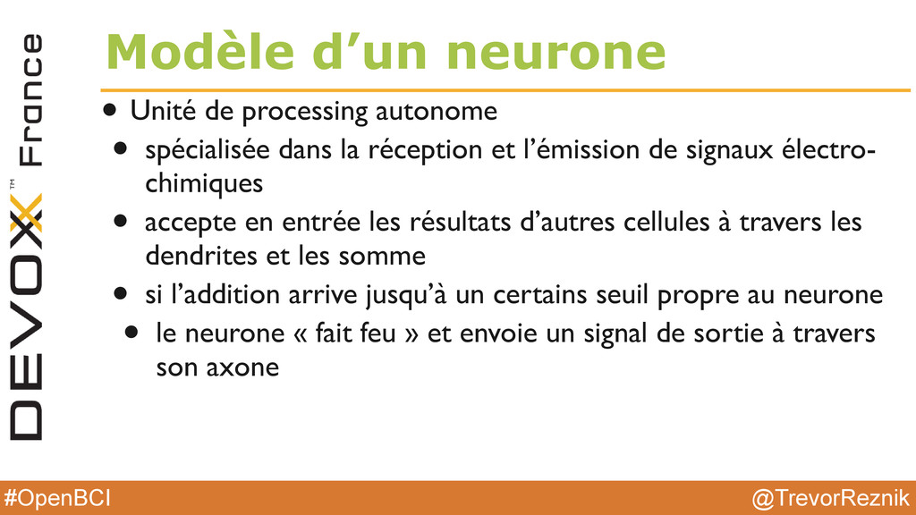 @TrevorReznik #OpenBCI Modèle d'un neurone • Un...